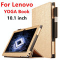 Case Для Lenovo YOGA КНИГА Защитный Смарт обложка Искусственной Кожи Tablet For yoga книга 10.1 дюймов PU Protector Sleeve Case охватывает