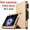 Case para lenovo yoga libro protectora cubierta elegante de cuero de imitación tablet case libro 10.1 pulgadas pu protector de la manga de yoga cubre