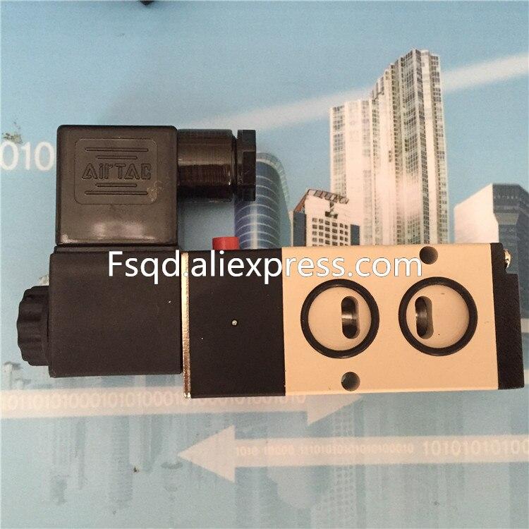 4M210-08 DC24V AC220V AIRTAC solenoid air valve pneumatic components electromagnetic valve 4v230c 08 airtac dc24v 3 position 5 way air solenoid valve pneumatic components