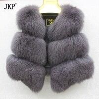 Модный зимний жилет из натурального Лисьего меха женская меховая куртка женская шуба из натурального Лисьего меха