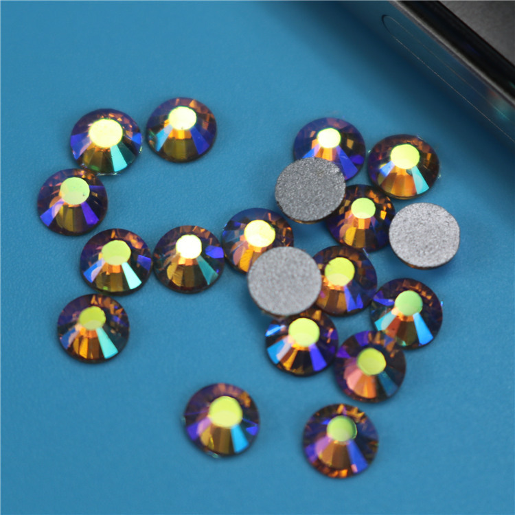 Crystal Rhinestones For Nail Art 1440pcs lot ss6 Lt. Colorado Topaz AB Non  Hot Fix Glass Chatons Diy Crafts Embellishments 37962184da0f