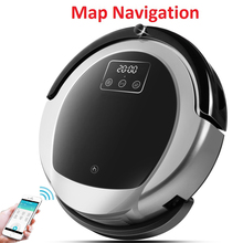 WiFi App control Интеллектуальный робот пылесос B6009, 2D карта и гироскоп навигация, память, виртуальная virtual, УФ лампа, резервуар для воды