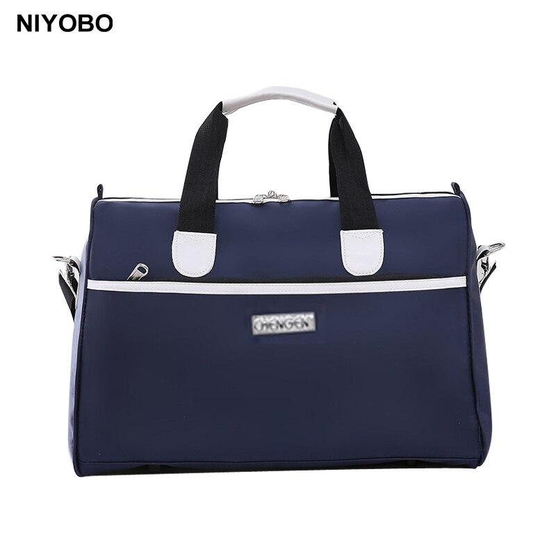 Fashion Women Handbags 20 inch Large Capacity Luggage Duffle Bag Waterproof Men Travel Bag Nylon Female Shoulder Travel Tote