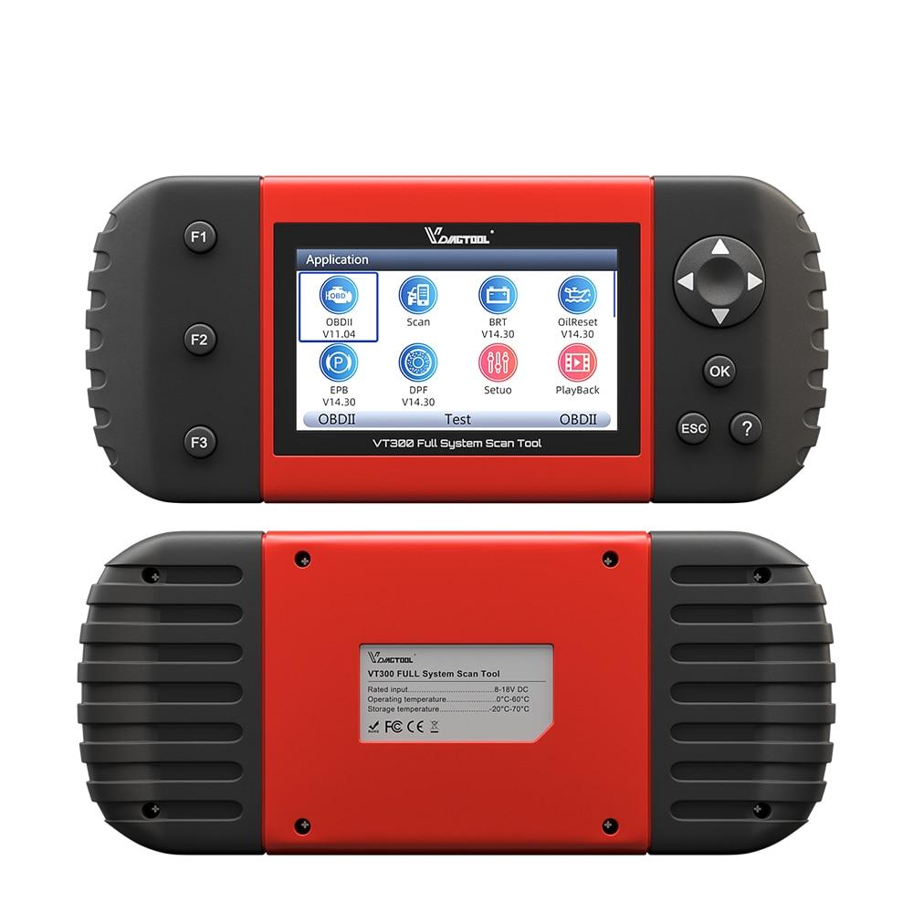 VDIAGTOOL VT300 Auto Diagnostic Scanner EPB DPF DRP BRT OBDII OBD2 Full Systems Support Multi Car Models Automotive Tools - 3