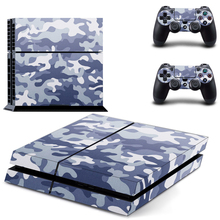 camouflage Decal PS4 Skin Sticker For Sony Playstation 4 Console +2Pcs Controllers 12 patterns