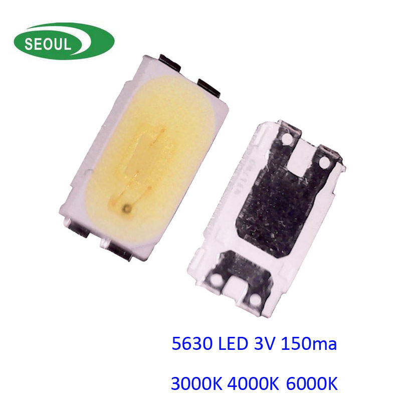 2017 New High CRI>80 Really 0.5W Chip LED 3V 150ma Seoul 5630 SMD LED 100pcs/lot 100% With Tracking Number