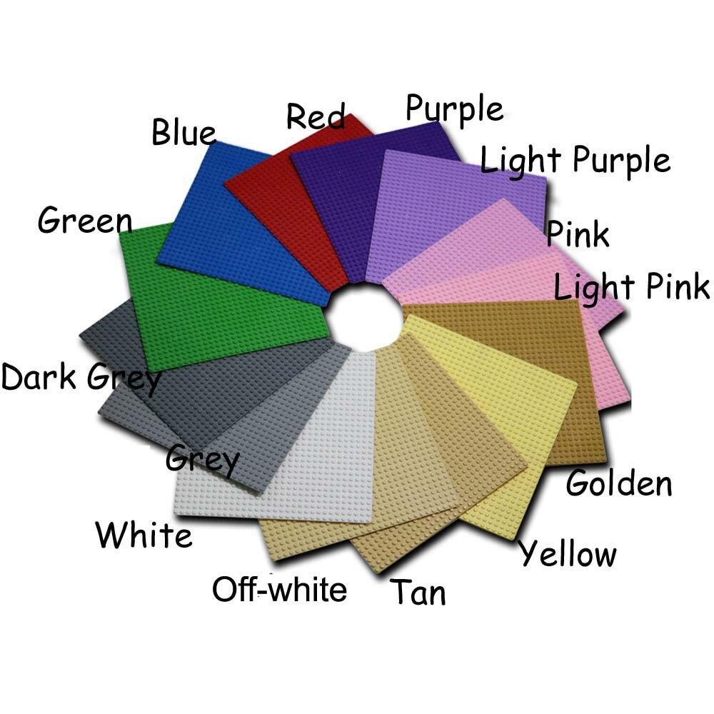 23 Colors MOC Transparent Baseplate 32x32 dot minifigure base plate accessory bricklink building block brick particles