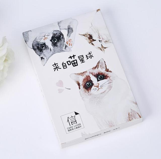 Aliexpress Buy 30 Pcspack Come From The Cat Planet Greeting