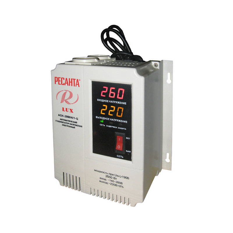 Voltage stabilizer RESANTA ASN-2000 N/1-C hot for 1 8s lipo li ion fe battery voltage 2in1 tester low voltage buzzer alarm no 1 new sale