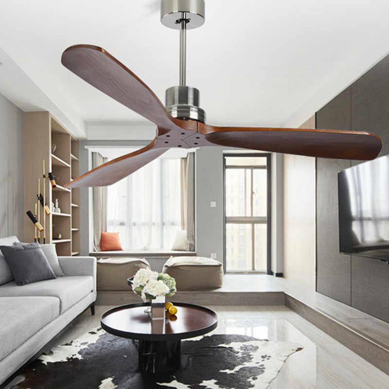 Скандинавский стиль винтажный потолочный вентилятор дерево без света Креативный дизайн спальня столовая потолочные вентиляторы бесплатная доставка