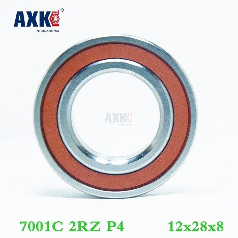 Axk 1pcs 7001 7001c 2rz P4 12x28x8 Sealed Angular Contact Bearings Speed Spindle Bearings Cnc Abec-7 1pcs 71822 71822cd p4 7822 110x140x16 mochu thin walled miniature angular contact bearings speed spindle bearings cnc abec 7
