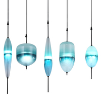 Art Glass Pendant Light Nordic Modern Creative Personality LED Pendant Lights Lake Blue Color Hand Made