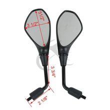 10mm Black View Mirror For SUZUKI GSR400 GSR600 750 BANDIT1250 SFV650 SV650N