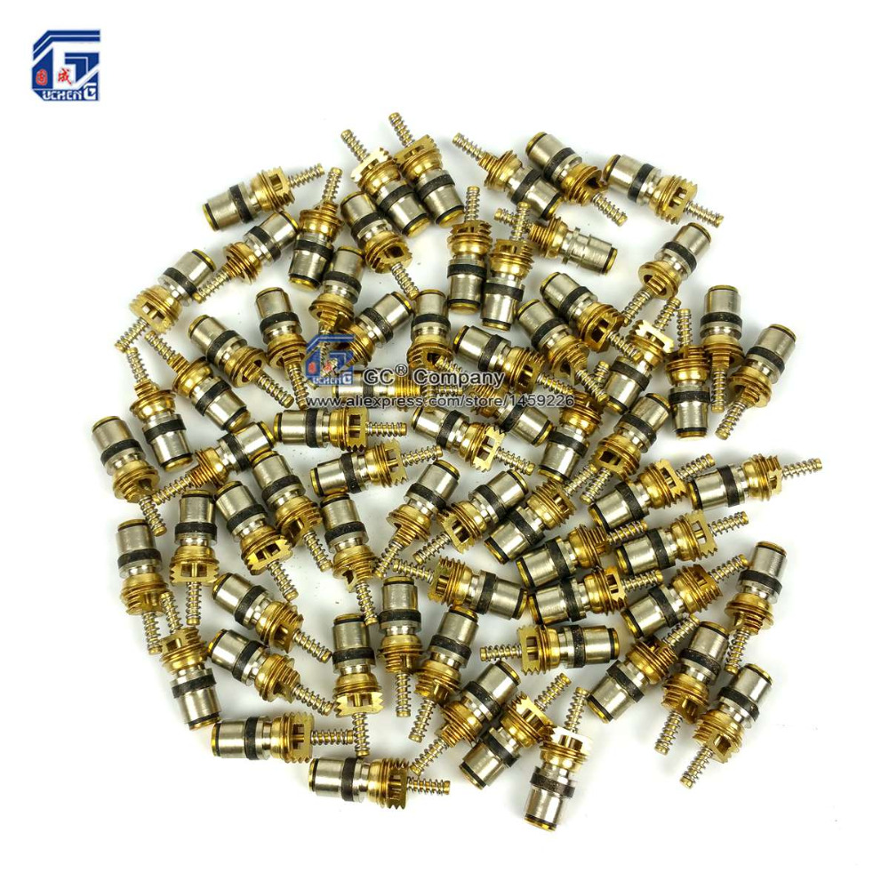 100pcs Valve Core for Volvo Ford Regal Picasso Citroen Fukang Elysee Mondeo R134a