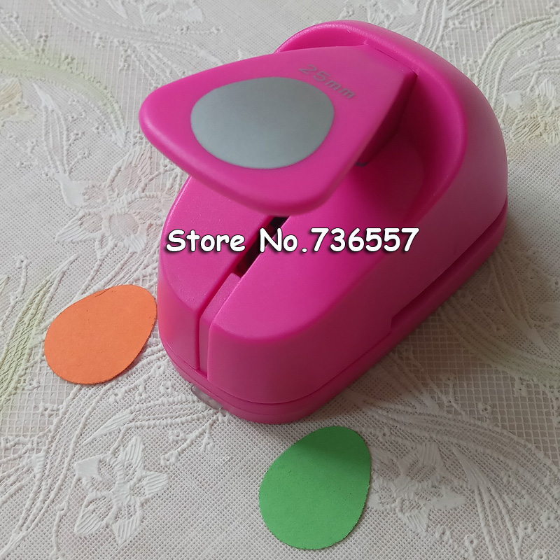 Free Shipping M Size Egg Shaped Save Power Paper/eva Foam Craft Punch Scrapbook Handmade Punchers DIY Hole Punches Oval Puncher