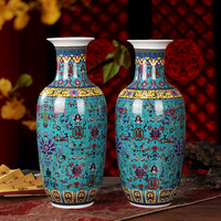 H48cm Tall Chinese Home Decoration Enameled Porcelain Ceramic Vases