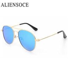 Nuevo Ojo de Gato de Lujo Niños Niñas Niños gafas de Sol de Diseñador de la Marca de Doble Vigas Niños Gafas de Sol Polarizadas Gafas de Sol Gafas