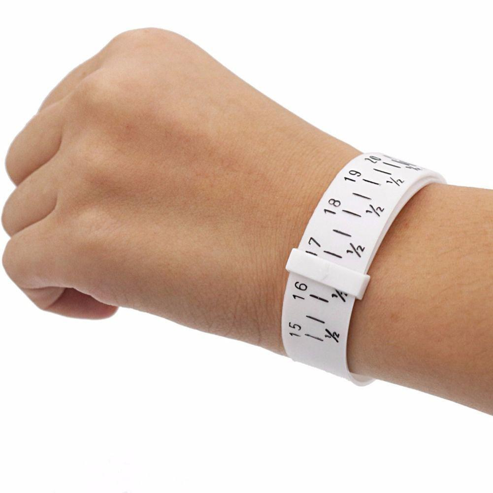 Finger Wrist Circle Measuring Belt Tool Ring Bracelet Wristlet Watch Sizer Plastic Finger Wrist Ring Measurement Belt Tool Ring
