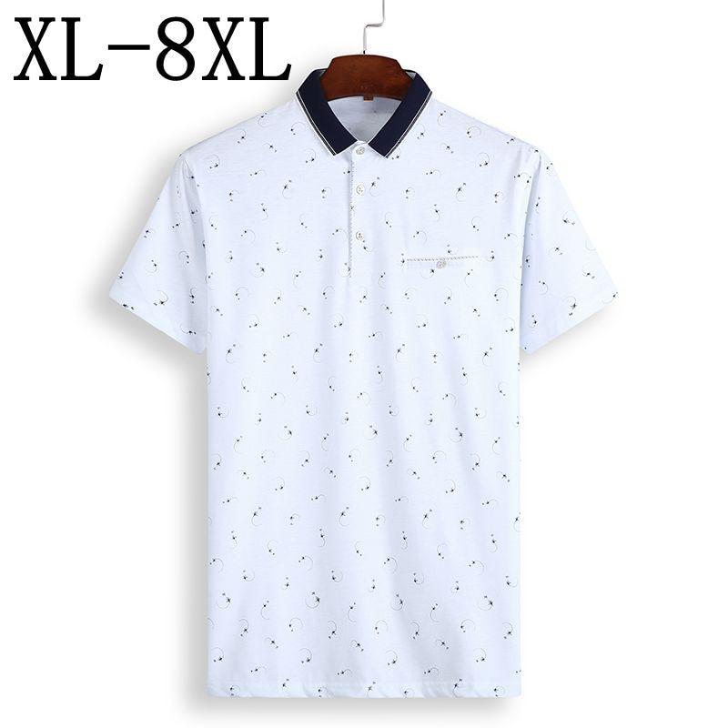 Size 6XL 7XL 8XL 2019 New Summer Business Polo Shirt Men Short Sleeve Casual Breathable Men's Polos Top Brand Camisa Polo