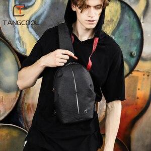 Image 3 - Erkek rahat seyahat çantası erkek göğüs çanta paketi Anti hırsızlık USB su geçirmez omuz Crossbody çantaları genç erkek Mini ipad çantası