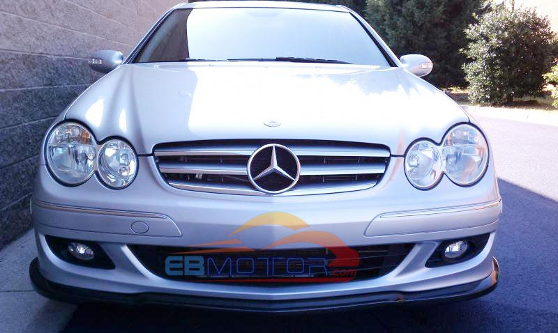 PAINTED Front bumper lip spoiler for Benz W209 CLK350 coupe 2006UP M064F