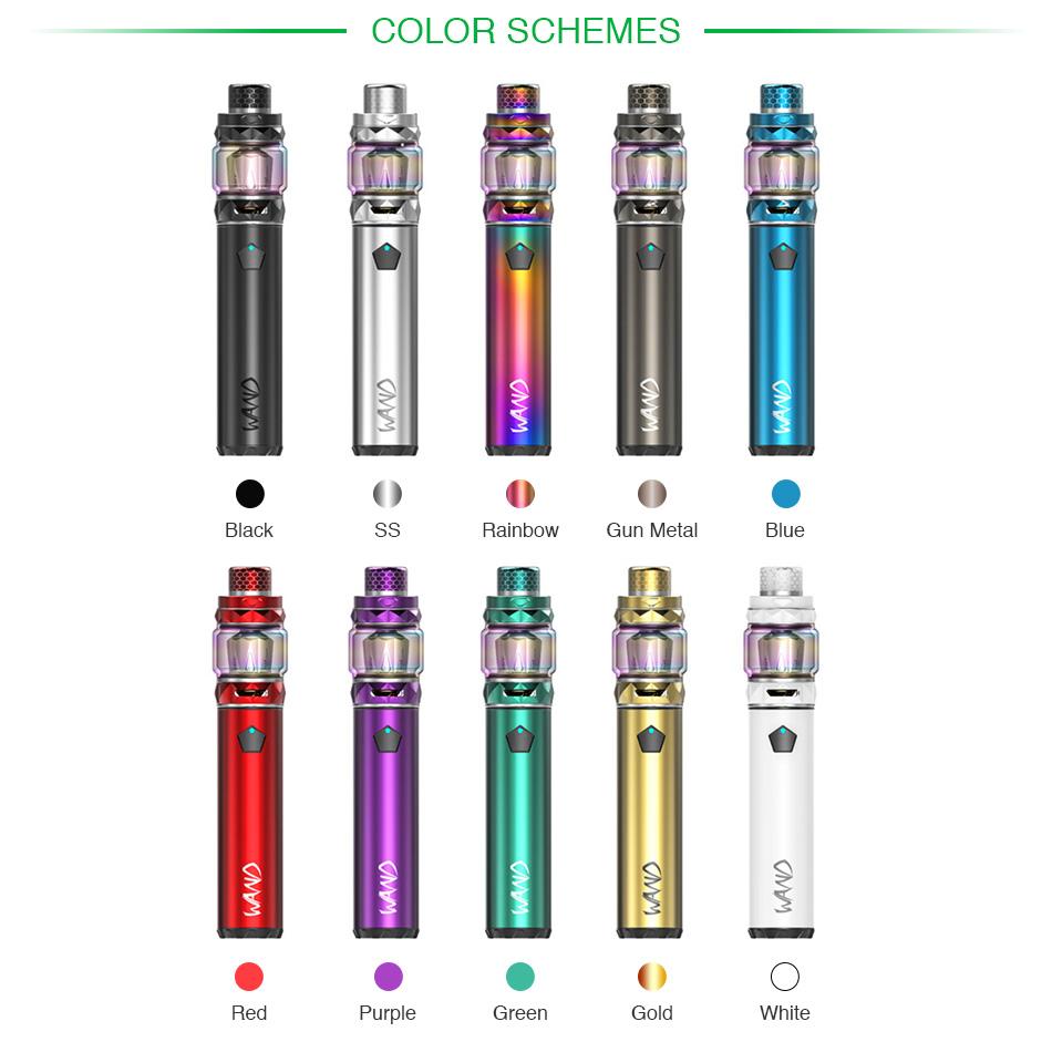 , 100% Origianl IJOY Wand Starter Kit with 5.5ml Capacity Tank & 2600mAh Battery MOD & 100W Max Output  Electronic Cigarette Vape