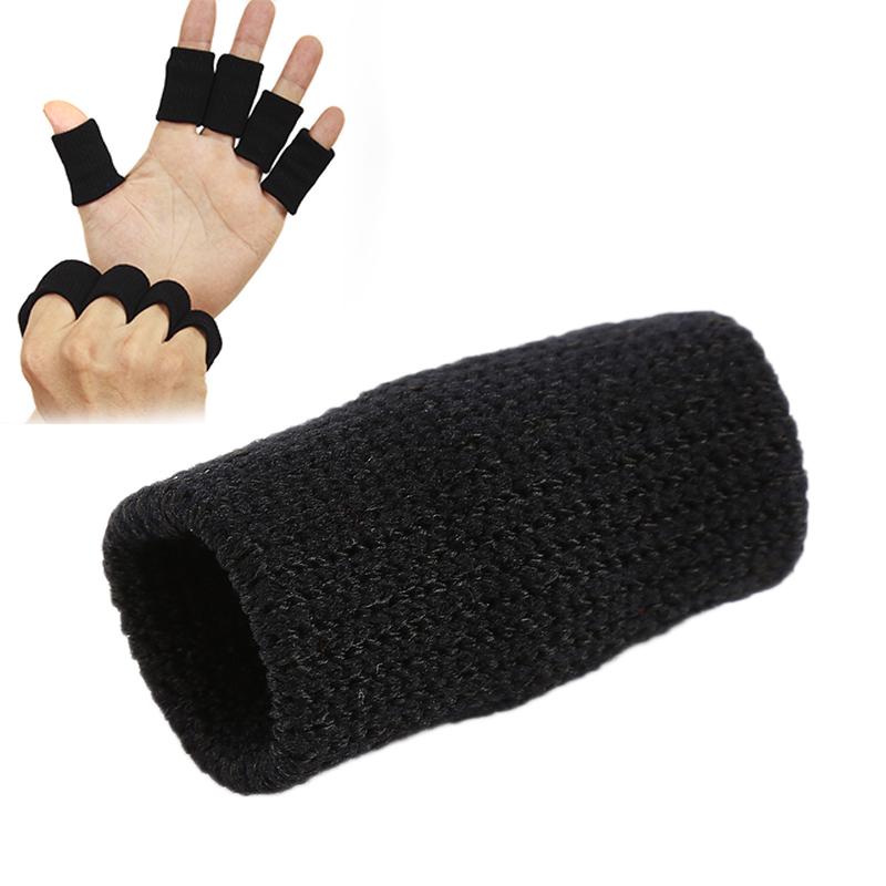 10 Pcs Sports Finger Guard Finger Protector Sleeve Support Basketball Sports Aid Arthritis Band Wraps Finger Sleeves