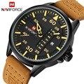 2016 Marca Casual Men Sports Relógios de Quartzo dos homens de Luxo Data Relógio Semana Homem Pulseira de Couro Militar Do Exército de Pulso À Prova D' Água relógio