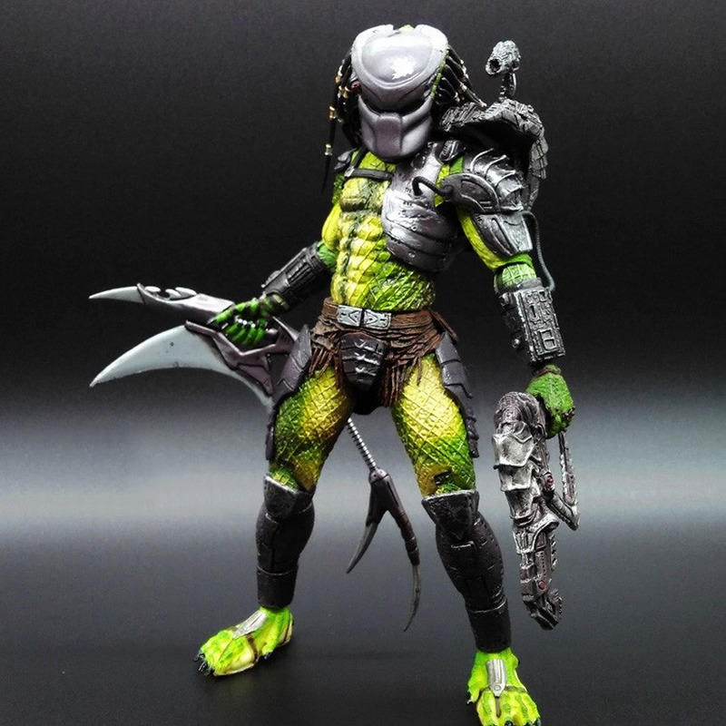 NECA Alien vs Predator Villain Lone Wolf PVC Model Joint Movable Action Figure Doll Toy For Collection 20CM 5 5 inch cartoon character pvc action figure movable joint toy with chest light home office decoration 4pcs