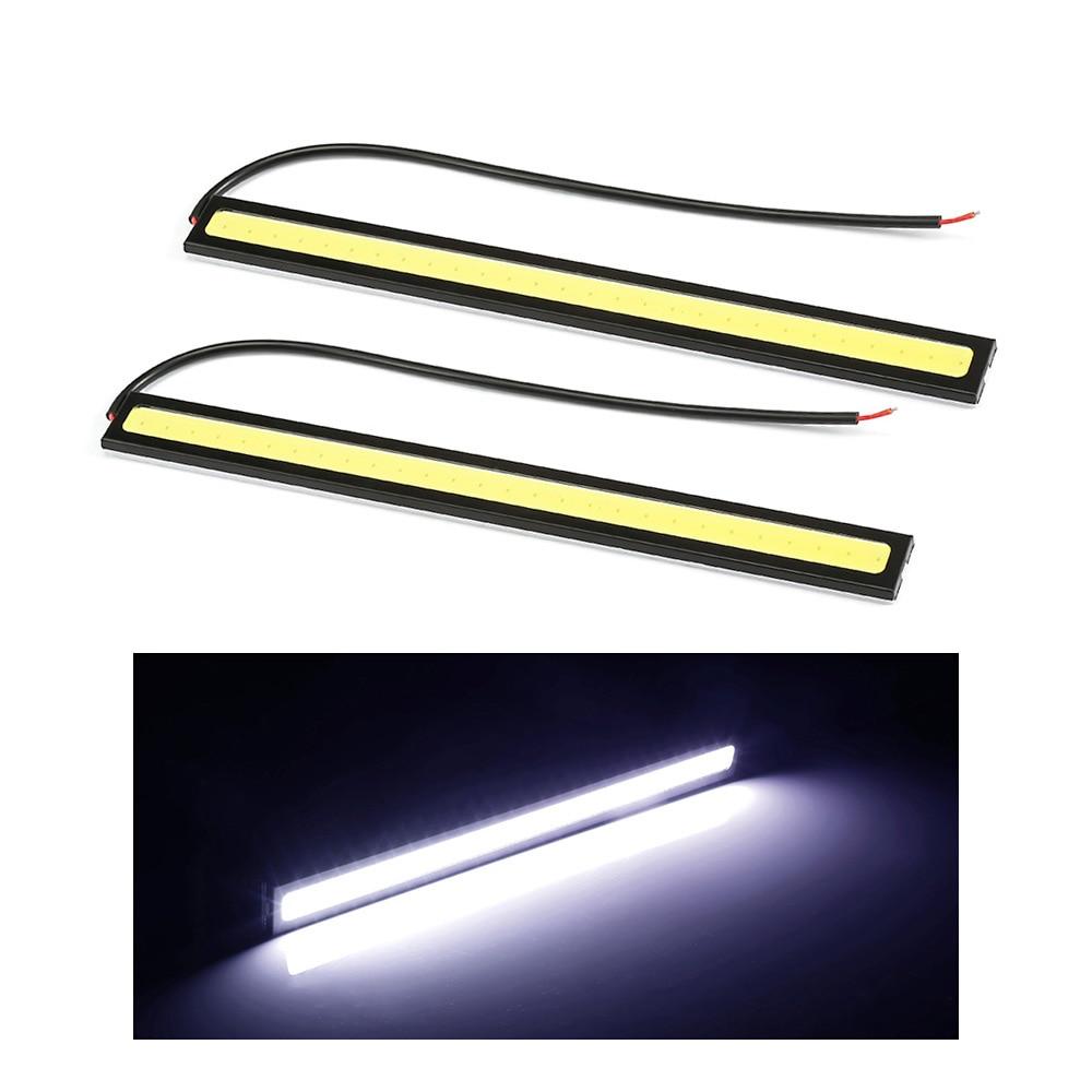 цена на 1PCS 17cm 12V COB LED DRL Driving Daytime Running Lights Strip COB LED DRL Bar Stripes Panel Lamps Auto Driving Day time Lights