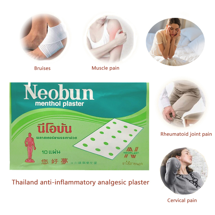 Medical Plasters Pain Back Pain Joint Pain Arthritis Neck Pain Patches Relaxing Massage Thailand Neobun Medical Plaster
