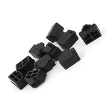PROMOTION! Ethernet Hub Port RJ45 Anti Dust Cover Cap Protector Plug 10Pcs Black(China)