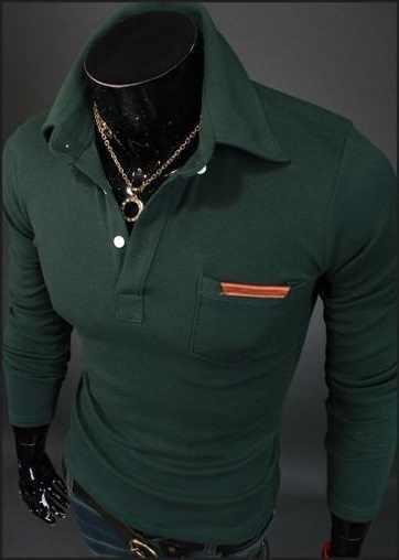 1514ff14 ... 2018 casual long sleeve business mens shirts male striped fashion brand polo  shirt designer men tenis ...