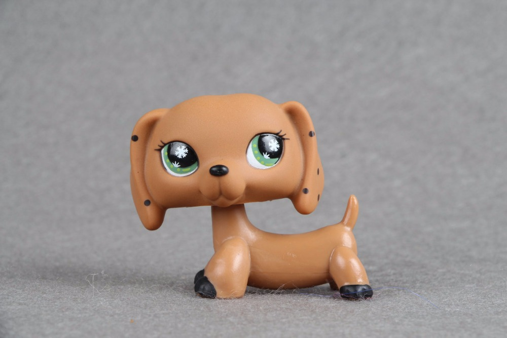 New pet Genuine Original LPS Brown Monopoly Dachshund Dog Snowflake Eyes Collection figure Toys lps collections pet shop cat great dane 817 white dog star eyes rare old collections figure toys christmas gifts