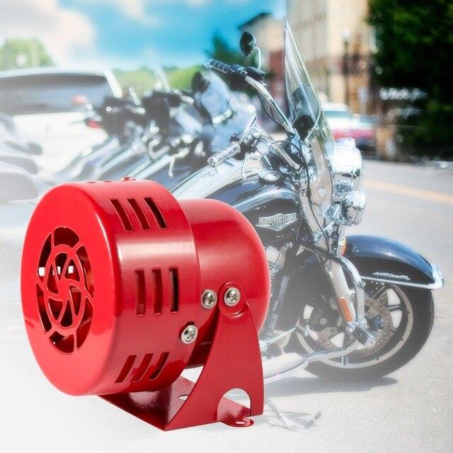 "12V 3"" Automotive Air Raid Siren Horn Car Truck Motor Driven Alarm Red"