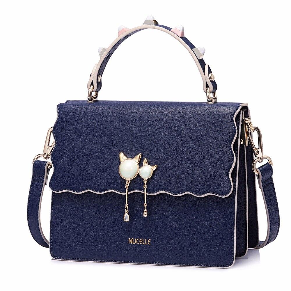 mochilas mujer 2017 female new bags fashion rivet cat tassel handbags shoulder package organizer bolsas femininas
