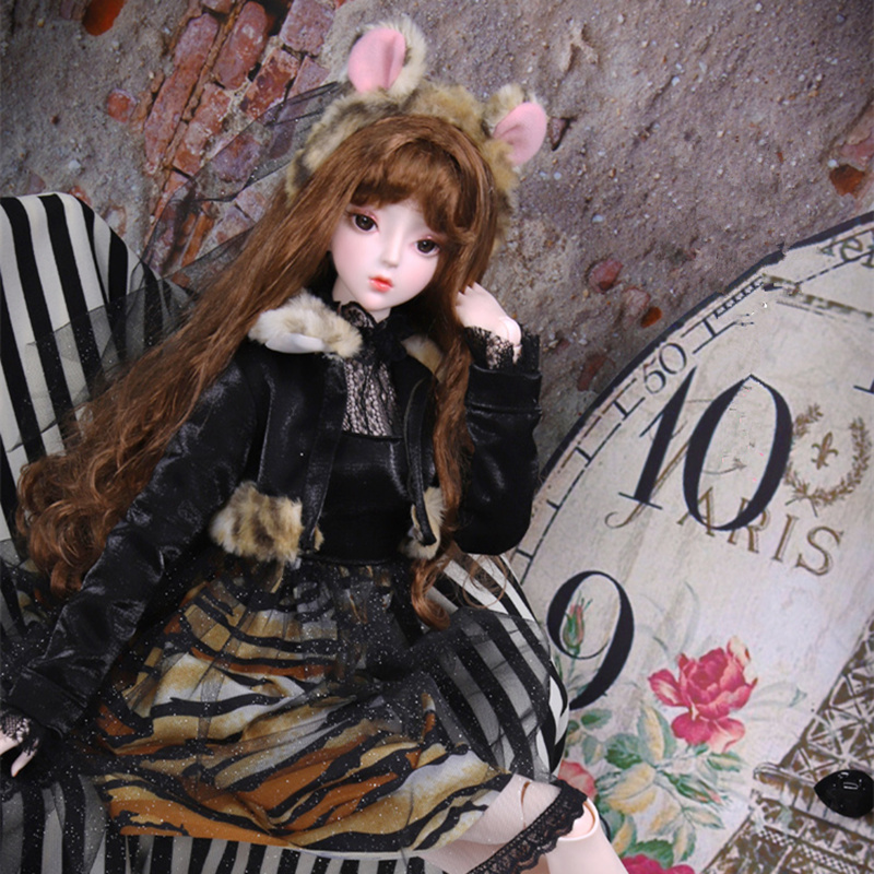 BJD Doll 1/3 Joint Body 62CM Amber Hand-painted Makeup Suit With Clothes Shoes And Gift Box SD Dolls Toy