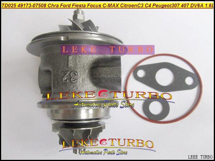 Turbo Cartridge Chra TD02 49173-07508 49173-07503 49173-07507 For FORD Fiesta C-MAX For Citroen C3 C4 Peugeot 307 407 DV6A 1.6L turbo for ford focus fiesta c max fiat scudo citroen berlingo c3 c4 peugeot 207 307 407 dv6uted4 1 6l 49173 07507 turbocharger