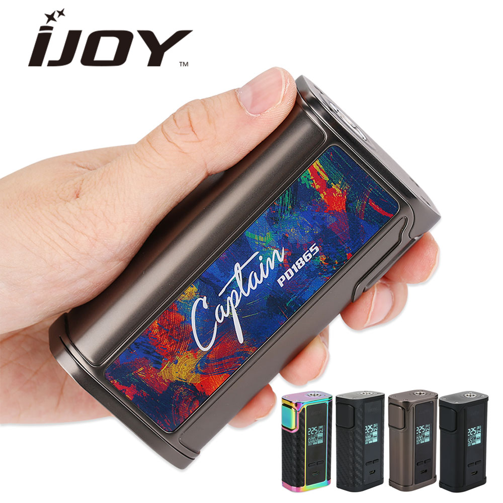 Original 225W IJOY Captain PD1865 TC BOX MOD Max 225W No 18650 Battery Box Mod PD1865 for RDTA 5S Tank E-Cig Vape Mod vs DRAG orginal ijoy maxo zenith box mod 300w no 18650 battery for ijoy rdta 5 tank atomizer electronic cigarette mod 510