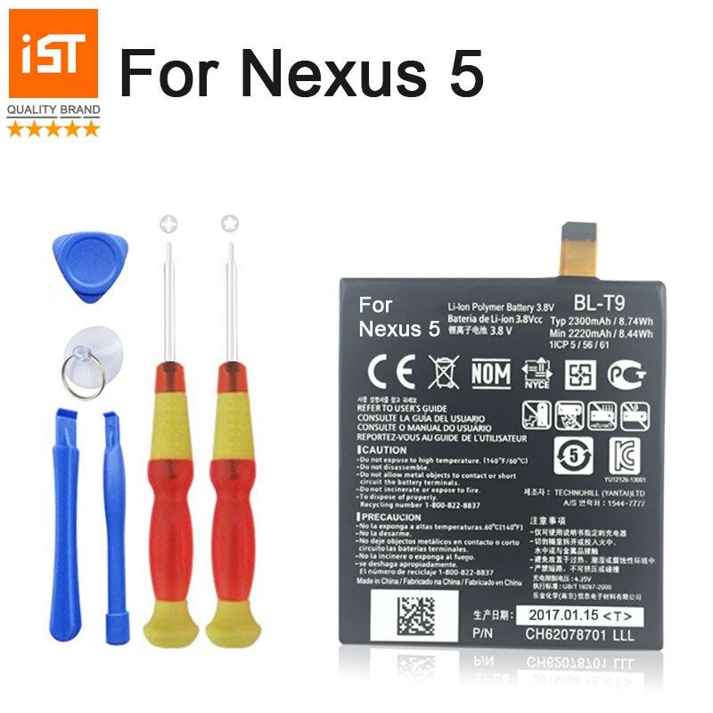 100% IST Batteria Del Telefono Mobile Originale Per LG Nexus 5 BL-T9 E980 G D820 D821 BLT9 Sostituzione Della Batteria Con Strumenti