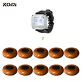 Беспроводная система вызова вибрирует наручные часы пейджер K-300plus и дерево Цвет Кнопка вызова (1 часы + 10 кнопок)