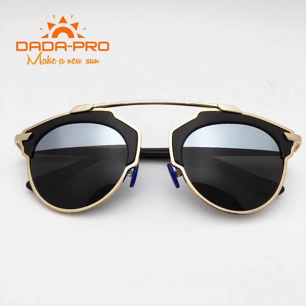 DaDaPro Brand D Designer Gafas Mirror Cat Eye So Real Ladies CD Vintage Female punk Sunglasses Polarized UV400 Oculos De Sol