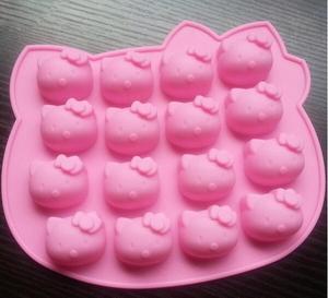 Силиконовый поддон для кексов, 1 шт., Желейная форма для конфет и кексов, 16 форм для выпечки Hello Kitty, форма для шоколада, сковорода для выпечки, ...