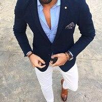 Blazer Masculino Slim Fit Mens Tuxedo Cheap Mans Suit Latest Coat Pant Designs Costume Homme 2 Pieces men suits (Jacket+Pants)