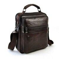 Men Genuine Real Leather Shoulder Bag Classic Retro Messenger Cross Body Handbag Male 5 Zip Practical