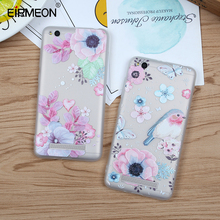 EIRMEON Flower Silicon Case For Xiaomi Note 4 Redmi 4X 4A 5A 6 Pro Cases 5X Mi A1 3D Relief Soft TPU Cover