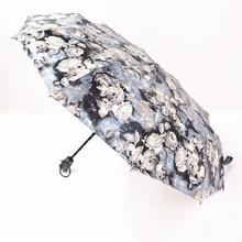 Paraguas Trasnparente Fully Automatic Compact Anti-UV Rain Betty Boop Sunshine Windproof Umbrellas Women Ladies Fashion Z508