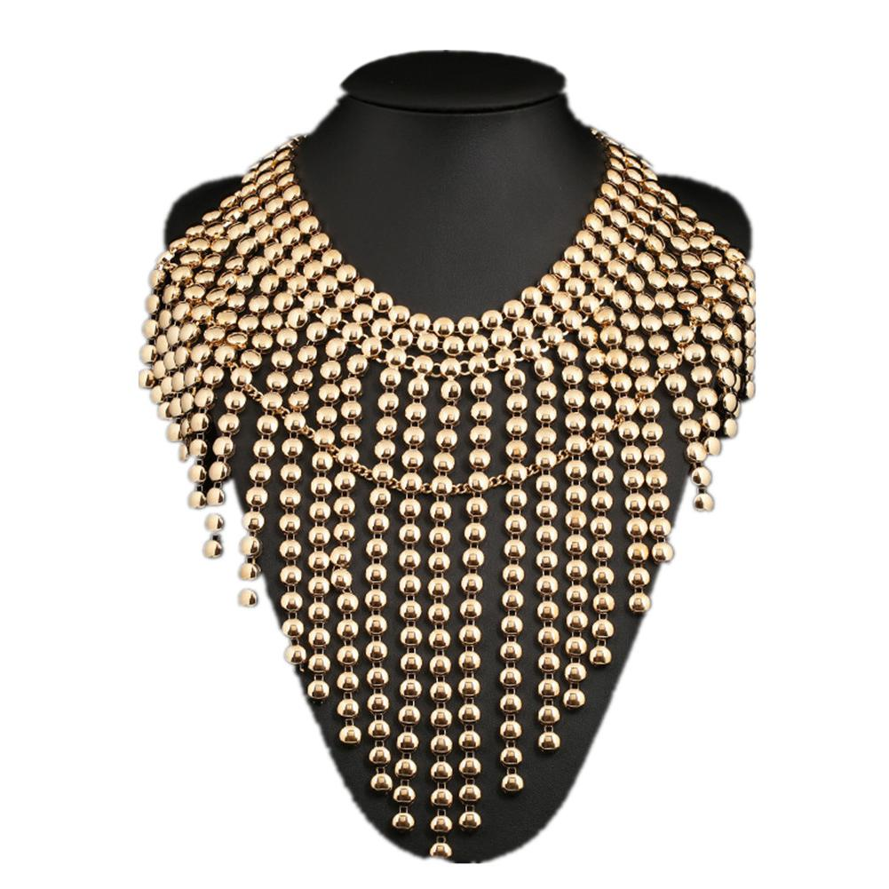 XIUFEN Special necklace for Women Retro Jewelry Multi Layers Beads Tassels Pendants Punk Necklace
