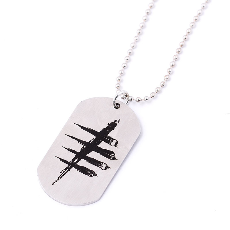 2016 New Arrive Game Dead by Daylight Necklace stainless steel Pendant Keychain Chain Necklace Jewelry Can Dropshipping