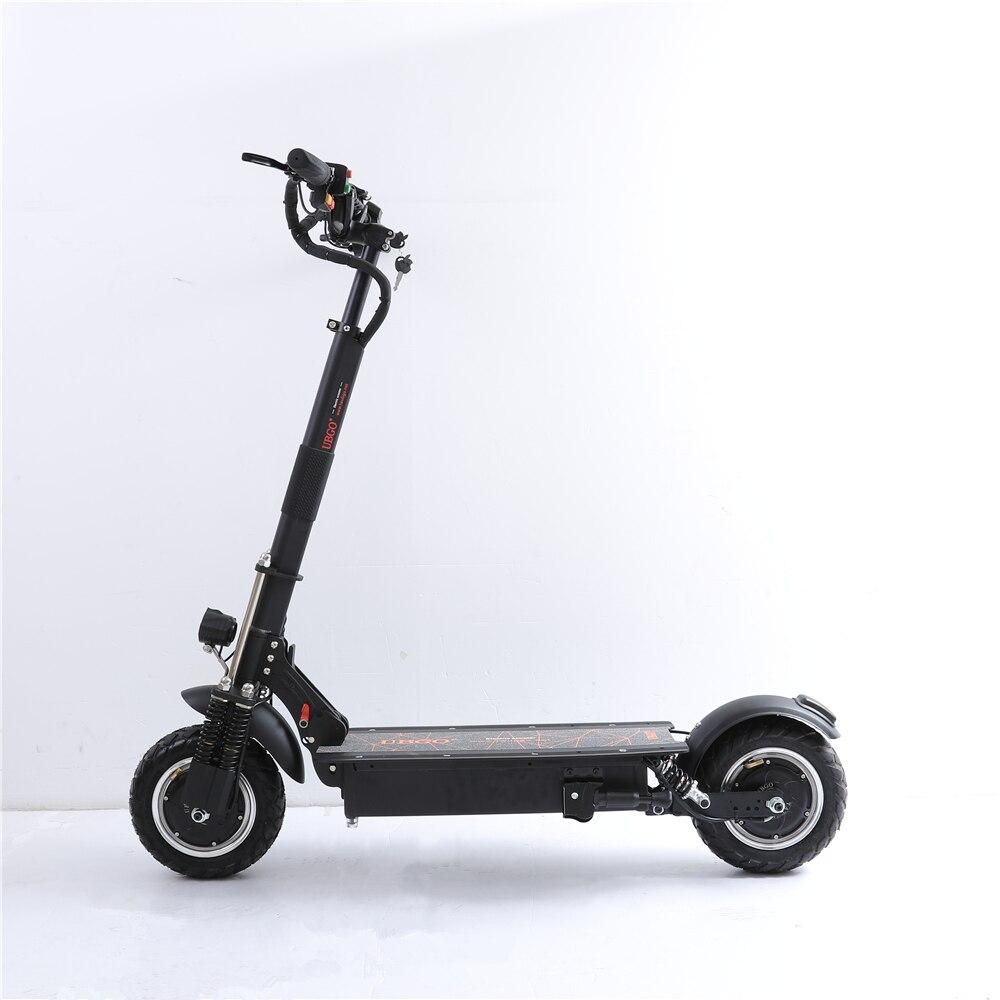 UBGO 1005 + Pneu Vazio 52V Duplo Acionamento Do Motor Scooter Elétrico Poderoso 10 polegada Scooter E-